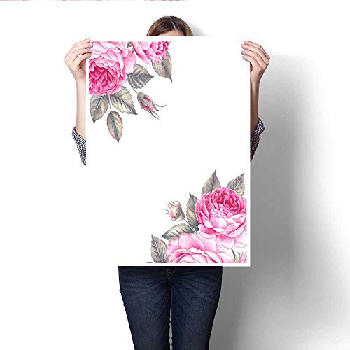 - Anshesix Art-Canvas Prints Bouquet of Rose Watercolor can be Used as Greeting Card Invitation Card for Wedding Birthday and Other Holiday and Summer Background Customizable Wall Stickers 20
