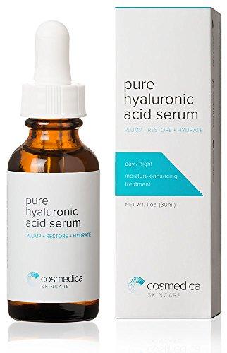 Популярная гиалуроновой кислоты сыворотка для Skin-- 100% Pure-высокого качества, Anti-Aging Serum-- интенсивное увлажнение + влаги, Номера для жирной, парабенов-Best Гиалуроновая кислота для лица (Pro Formula) 1 унция