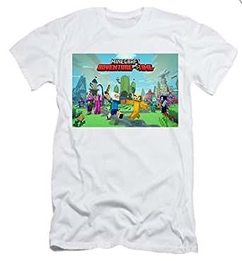 White Round Neck T-Shirt For Boys - minecraft t shirt