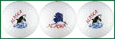 Alaska w/ Orca & Map Golf Ball Gift Set