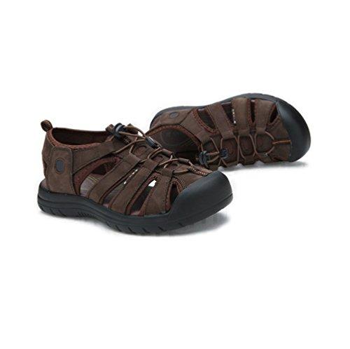 Scarpe Scarpe in Punta con da MHSXN Darkbrown Classici Uomo da Uomo Sandali Chiusa Pelle da Arrampicata Color Cachi 0wWRqvI