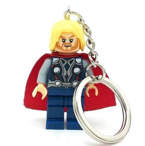 [The God Of Thunder Thor Super Heroes Minifigures Keychain Building Blocks Bricks Size 4.5 cm no orignial box,new in sealed] (Jessica Jones Marvel Costume)