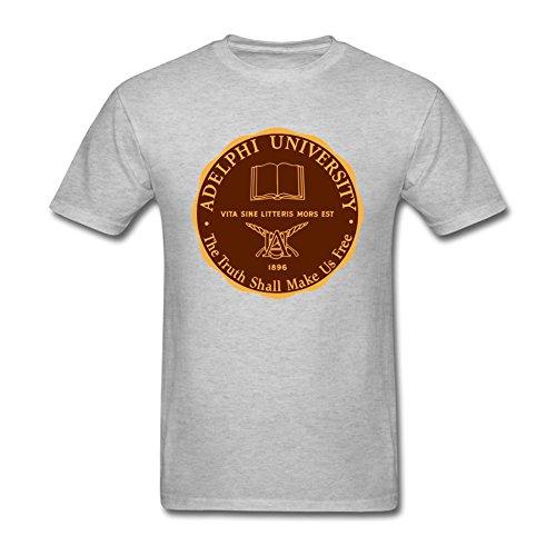 Oryxs Men's Adelphi University Garden City1 T-Shirt XXL Grey ()