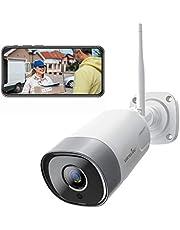 Caméra de Surveillance WiFi, Wansview 1080P FHD Caméra IP Extérieure Étanche avec Détection de Mouvement, Audio Bidirectionnel, Accès à Distance, Support ONVIF, Fonctionne avec Alexa -- W5 Blanche