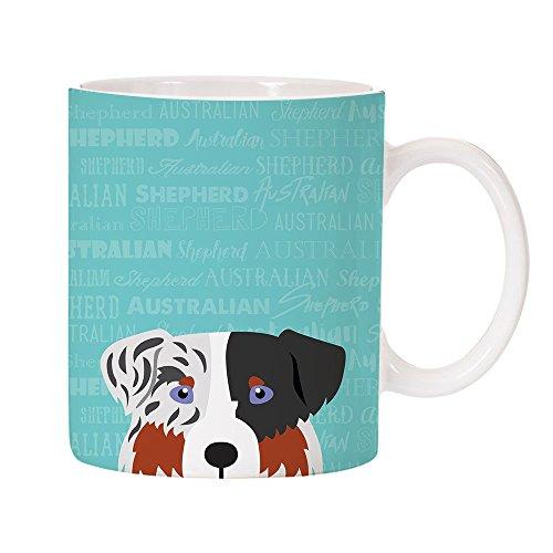 Australian Shepherd Mug Dog - Adorable Dog Breed Specific 11oz Ceramic Coffee Mug (Australian Shepherd)