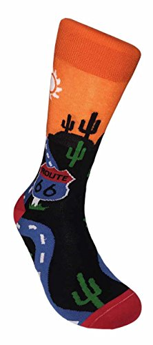 FineFit Man Cave Trouser Socks - One Size, Route 66 by Fine Fit (Image #1)