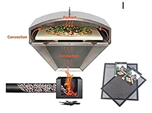 Green Mountain Grill Wood Fired Pizza Oven PLUS FREE GMG BBQ/GRILLING Mats , GMG-4023 - Wood Fire BBQ, Pellet Pizza Oven and FREE GRILLING MATS