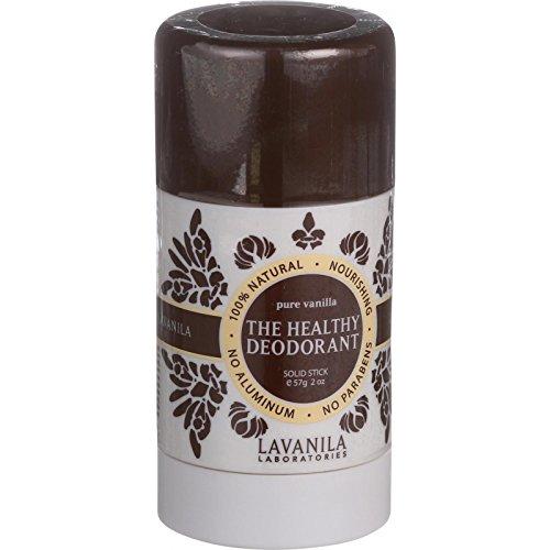 Lavanila Laboratories The Healthy Deodorant - Stick - Pure Vanilla- No Aluminium - 2 oz (Pack of ()