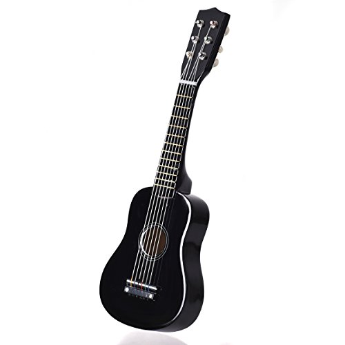 Goplus 21'' Beginners Kids Acoustic Guitar 6 String with Pick Children Kids Musical Gift (Black) by Goplus