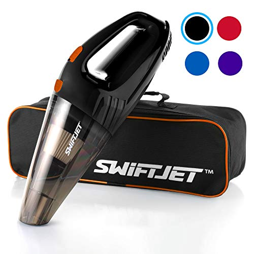SwiftJet Car Vacuum Cleaner - High Powered 4 KPA Suction Handheld Automotive Vacuum - 12V DC 120 Watt - 14.5