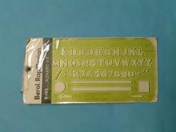 Berol RapiDesign R-135 Alphabet 3/8\
