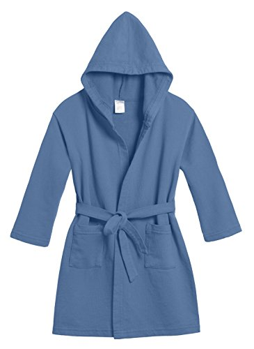 City Threads Girls' and Boys' Cotton Pool & Beach Robe Cover Up, Smurf, 8 -