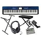 Casio Privia PX-560M BE Tri-Sensor Hammer Action II Keyboard w/Bench, Stand, Su