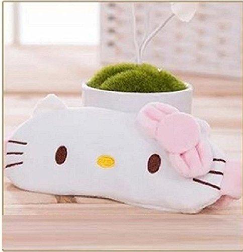 Hello Kitty Eye Mask - CJB Lovely Hello Kitty Eye Mask for Sleeping Travel Games KT Smile (US Seller)
