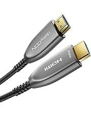 deleyCON 30m Optische Glasvezel HDMI 2.0b Kabel - 4K@60Hz 4:4:4 HDR 10+ HDCP 2.2 eARC CEC UHD 2160p Ethernet 18Gbps 3D FULL HD 1080p Dolby