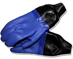 These gloves are made to order and are not returnable. Please make sure that you pick the correct size or ask us for help.Built in house here at Dive Right In Scuba, we take our Blue Drygloves that come with a liner and our Latex Wrist Sealsa...