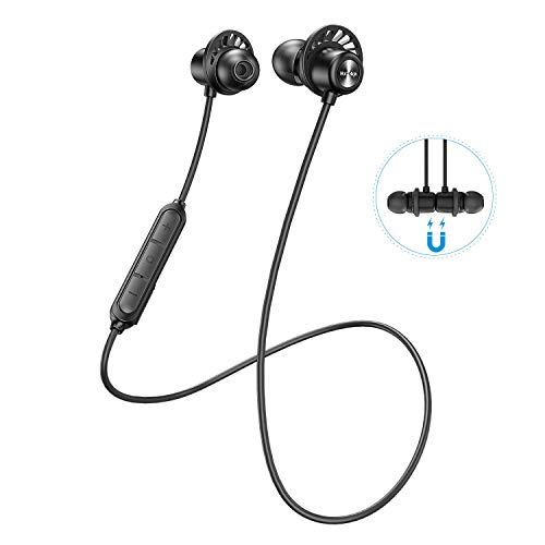 SP604 Sports Bluetooth Earphone Neckband Wireless Headphone in Ear with Mic HD Sound Handsfree Call 10 Hour Battery Life Magnetic Bluetooth 5.0 Headset for iOS Android Mobile