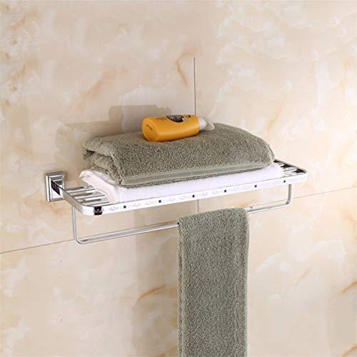 Luoshangqing The Veneer of Chromium Copper Acc Bathroom Floor Dry-Towels bar Towel Dry-Towels (Size : Towel Rack) ()