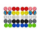 xbox one controller cover pink - BeautyMood 40pcs Colorful Silicone Accessories Replacement Parts Thumb Grip Cap Cover For PS2, PS3, PS4, XBox 360, XBox One Controller