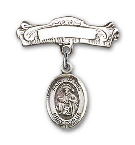 Icecarats Créatrice De Bijoux En Argent Sterling St. James La Broche Badge Arc Plus De Charme 7/8 X 7/8