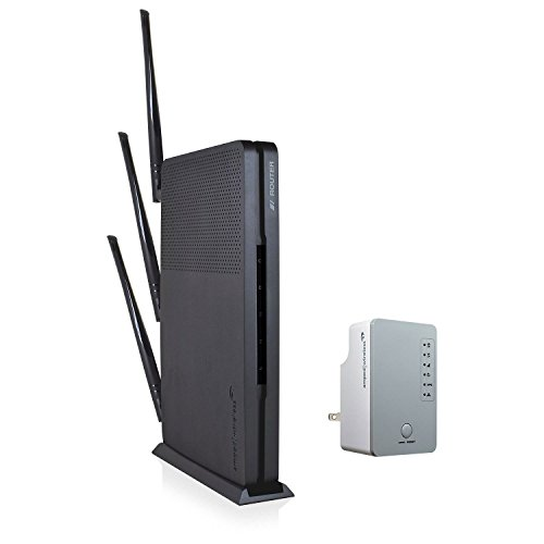 Amped Wireless B1912 Ultra Fast Wi-Fi Router and Range Extender Bundle by Amped Wireless