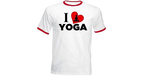 Teesquare1st YOGA I LOVE YOGA Tshirt de hombre con bordes ...