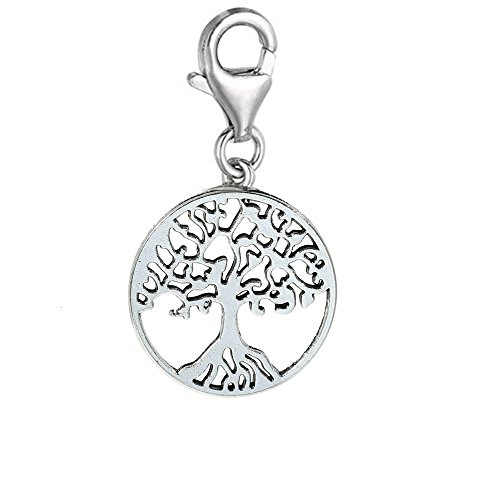 SEXY SPARKLES Clip on Family Tree Lobster Clasp Charm for Link Chain Bracelet