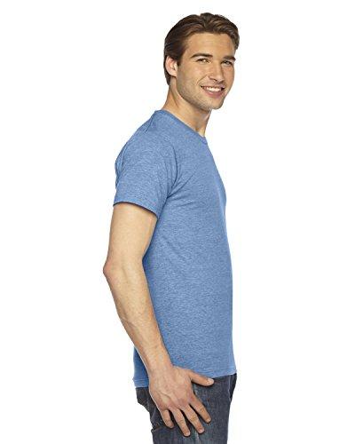 American Apparel Unisex Tri-Blend Short Sleeve Track Shirt - Athletic Blue / S