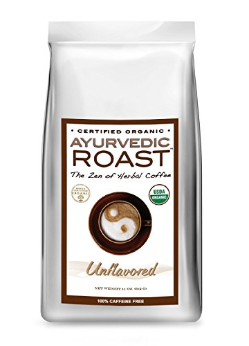 Non Ic Beverage - Organic Coffee Substitute - Caffeine Free Herbal Coffee - Vegan, GMO-Free- Ayurvedic Roast (Unflavored, 11 OZ)