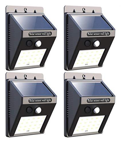 - Peach Halves LED Solar Lights, Motion Sensor Waterproof Wall Lights Security Light with 120°Wide Beam for Garden, Yard, Garage, Patio, Front Door, Outdoor (400 LM,4 Pack)