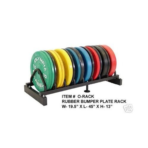 Solid Rubber Plates Set w/ Rack-(10,15,25,35,45) Color & (1.25,2.5,5) Steel Plates by Ader Sporting Goods