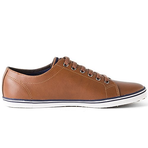 Stringate Uomo Oxford Leather Fred Marron Perry Kingston Scarpe wTqCAn