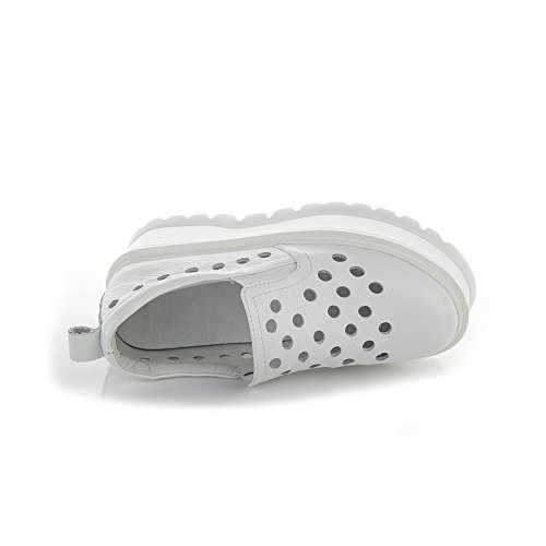 Unterseite Faulen Auf Partei Einkaufen Neue Schuhe Lederne Schuhen Für Akademie Der Die Weiße Oberflächenloch Schuhe Beleg Arbeit Starke A Frauen Schuhe 39 Kleine UnIZqp6