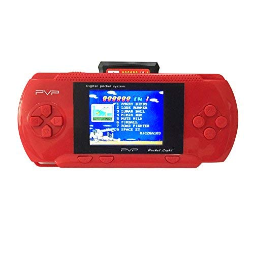 Mitofox PVP3000 PK PXP3 2.8 Inch 8 Bit Portable Handheld Console Games Kid Educational Toy Classic Games Slim Digital Pocket ASM Group Handheld Game Console (Red) ()