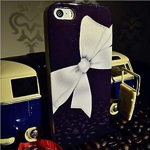 WQQ tpu fogonazo blanco mariposa nudo trasera para el iPhone 5 / 5s