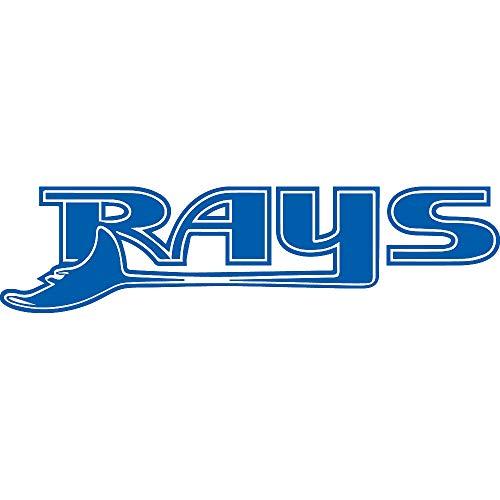 NBFU DECALS MLB Tampa Bay Rays Logo 4 (Azure Blue) (Set of 2) Premium Waterproof Vinyl Decal Stickers for Laptop Phone Accessory Helmet CAR Window Bumper Mug Tuber Cup Door Wall Decoration