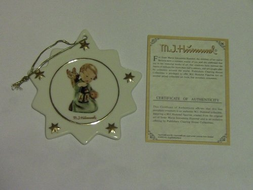 M.I. Hummel Porcelain Star Shaped Christmas Tree Ornament #B561 Guiding - Christmas Hummels