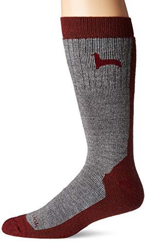 - Peruvian Link Alpaca Hiking Socks Treated With Aloe Vera (Cherry/Silver, X-Large)