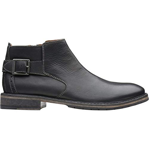 (CLARKS Clarkdale Remi Mens Black Leather Casual Dress Zipper Boots Shoes 11 )