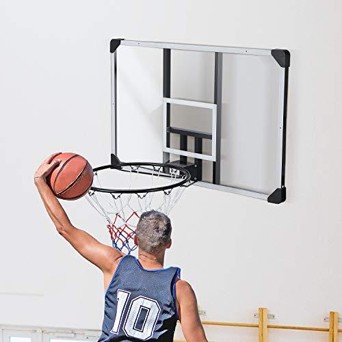 MaxKare-44-Inch-Basketball-Backboard-Wall-Mount-Hoops-Goals-Rim-Combo-KitShatterproof-Polycarbonate-BoardAll-Steel-Rustproof-Framefor-Standard-No7-Balls