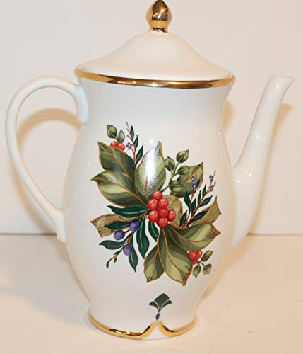 PRINCESS HOUSE Winter Garden Coffee Pot and Lid 7 3/4