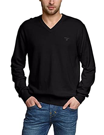 GANT Men's Lightweight Cotton V-Neck Sweater at Amazon Men's ...