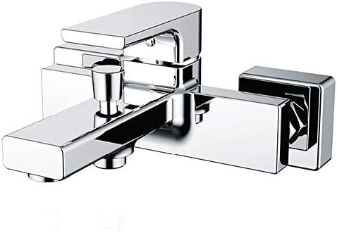 浴槽の蛇口 バスタブ蛇口バススリップオンダイバータブスパウトインウォールホテルの浴室のニッケル キッチンバーのトイレで使用できます (Color : Silver, Size : Free size)