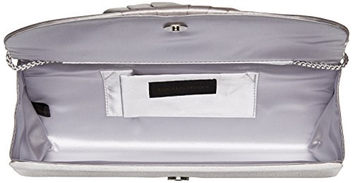 Bag McClintock Satin Womens Clutch Silver Included With Evening Flap Angel Jessica Tuxedo Shoulder Chain 8dqwxtHdS