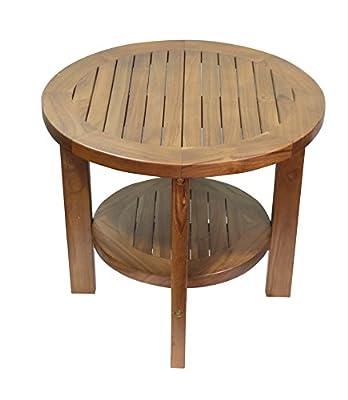 ALATEAK Indoor Outdoor Patio Garden Yard Bath Coffee Side Round Table