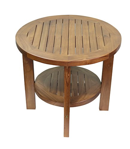 - ALATEAK Indoor Outdoor Patio Garden Yard Bath Coffee Side Round Table