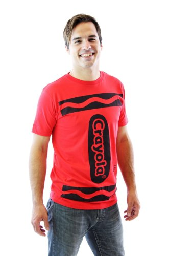 Crayola Crayon Red Adult Costume T-shirt (Adult X-Small) ()