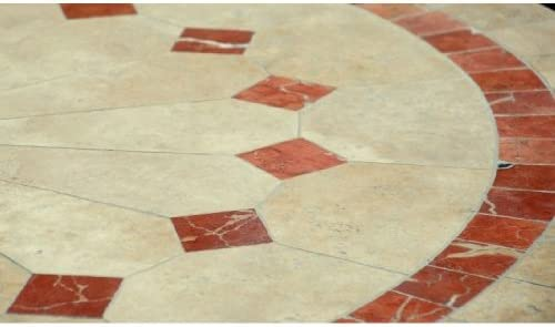 ALICANTE: Table en mosaïque de jardin en marbre - Pierre ...
