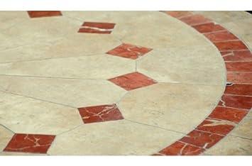 ALICANTE: Table en mosaïque de jardin en marbre - Pierre naturelle ...