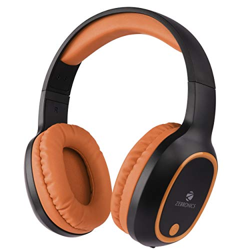 Zebronics Zeb-Thunder Wireless BT Headphone with Built-in FM, AUX Connectivity, and Micro SD Card Support